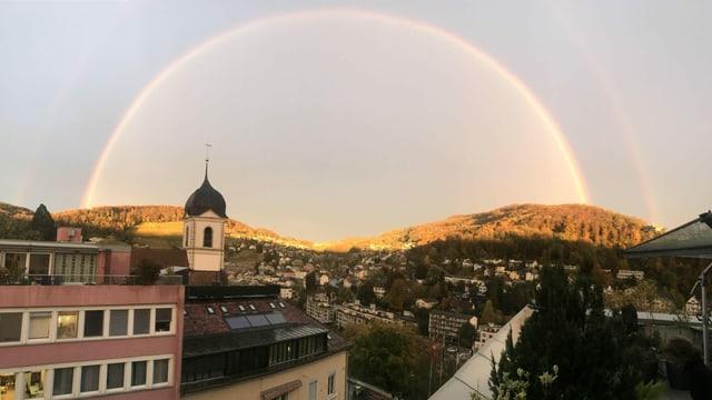 Regenbogen über Baden