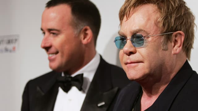 David Furnish und Elton John