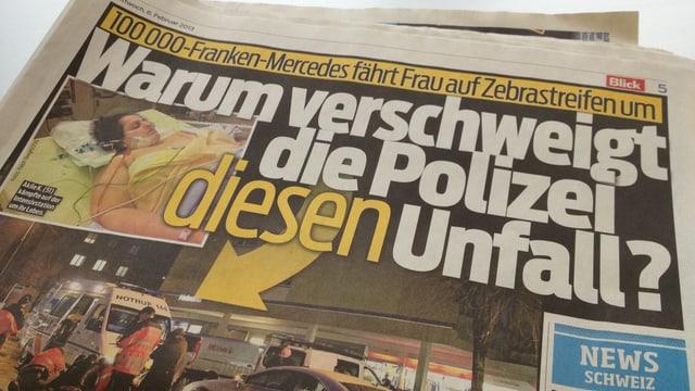 Die Schlagzeilen in der aktuellen Blick-Ausgabe zum Unfall in Wohlen.