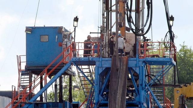 Eine Fracking-Anlage in den USA.