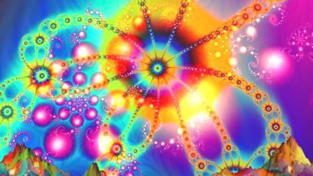 Psychadelische Formen und Farben