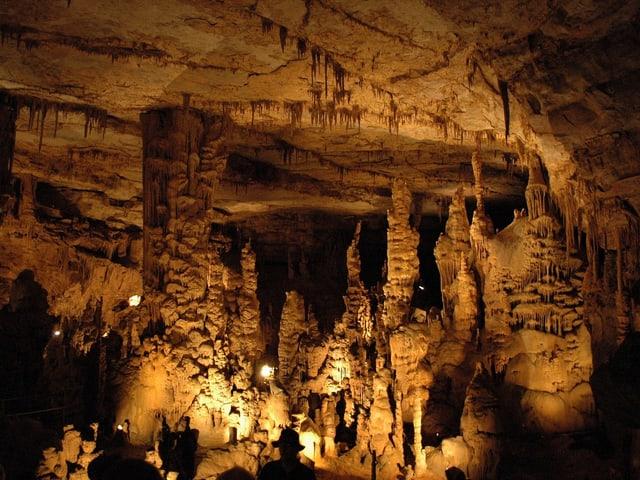 Die Cathedral Caverns im US-Bundesstaat Alabama.