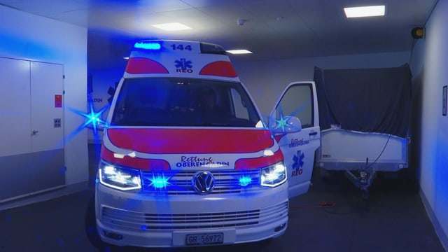 ambulanza, glisch blaua