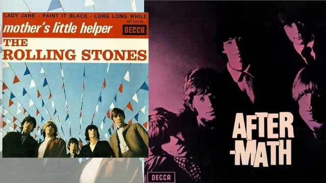 Plattencover der LP «Aftermath» und der Single-Auskopplung «Mother's little helper»