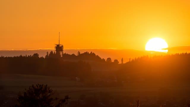 Sonnenuntergang vom Belpberg aufgenommen