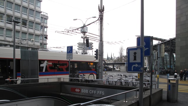Verkehrssituation am Luzerner Bahnhof