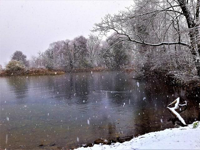 Schneeflocken in Altendorf