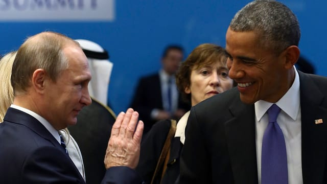 Il president american, Barack Obama ed il president russ, Wladimir Putin