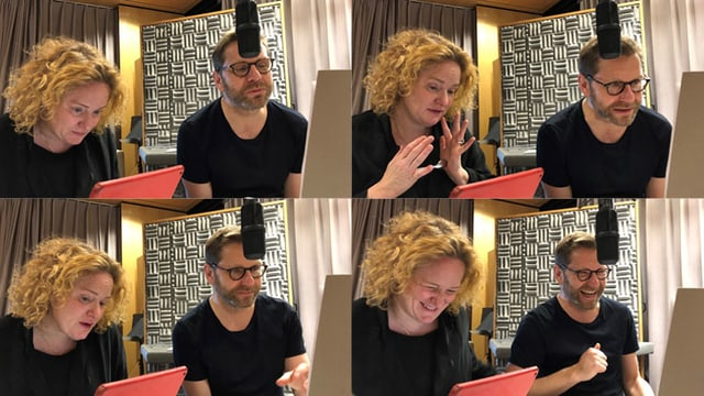 Fabienne Hadorn und Samuel Streiff im Studio.