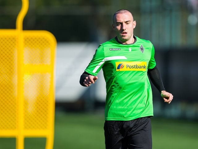 Josip Drmic im Trainingsdress von Gladbach.