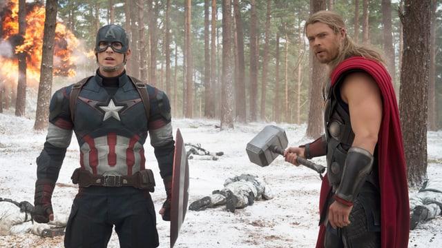 Captain America und Thor