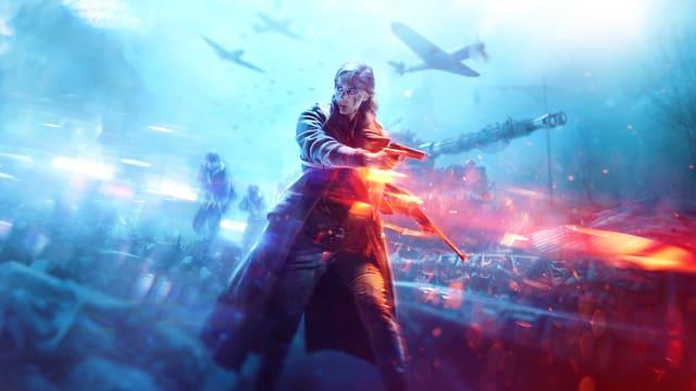 Eine Frau auf dem Cover des Weltkrieg-Spiels «Battlefield V».