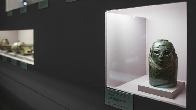 Die Steinfigur der weiblichen Gottheit Ekeko stand jahrzehntelang im Historischen Museum in Bern. Das bolivianische Heiligtum wurde mittlerweile zurückgegeben.