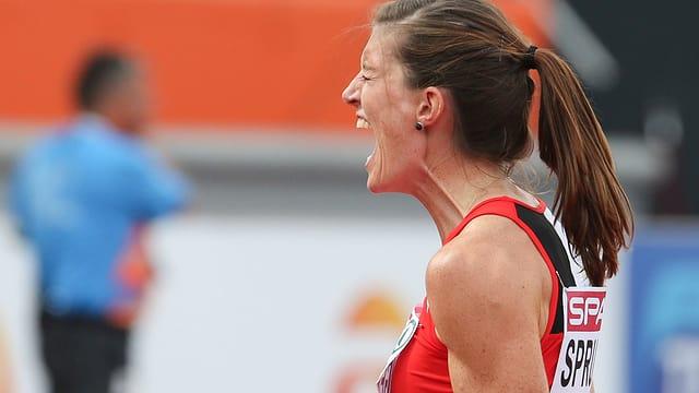 Lea Sprunger sprintet über 200 m so schnell wie noch nie.