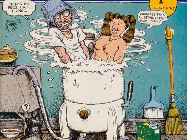 Robert Crumb und Aline Kominsky-Crumb in Waschzuber