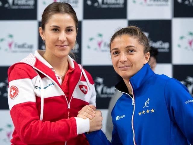 Belinda Bencic und Sara Errani.