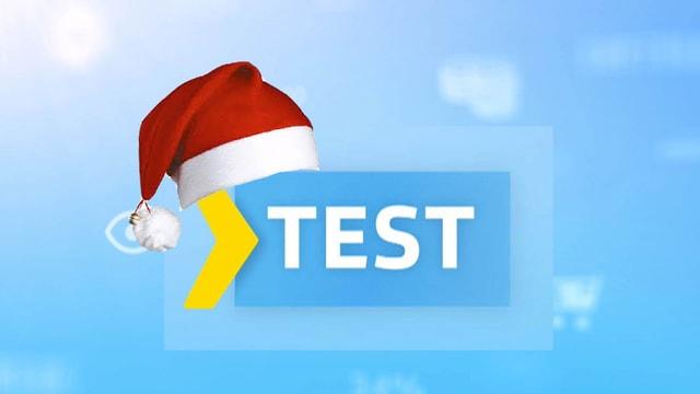Test-Logo mit einer Nikolausmütze