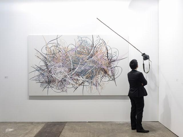 Besucher in der Galerie ShanghART.
