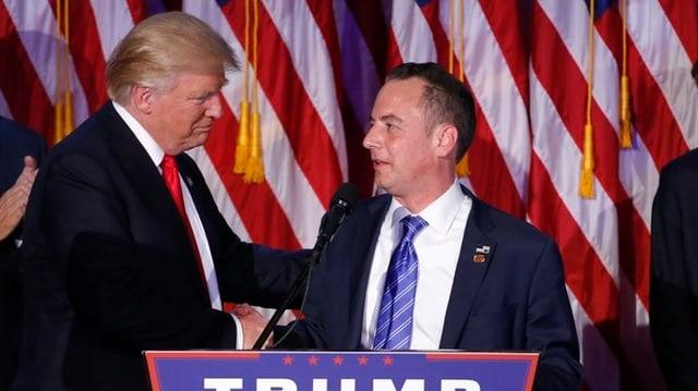 Purtret da Trump e Priebus.