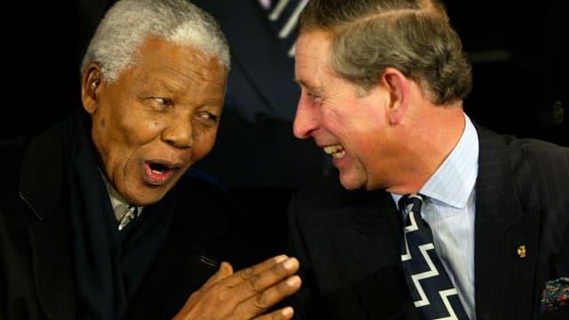 Nelson Mandela und Prinz Charles.
