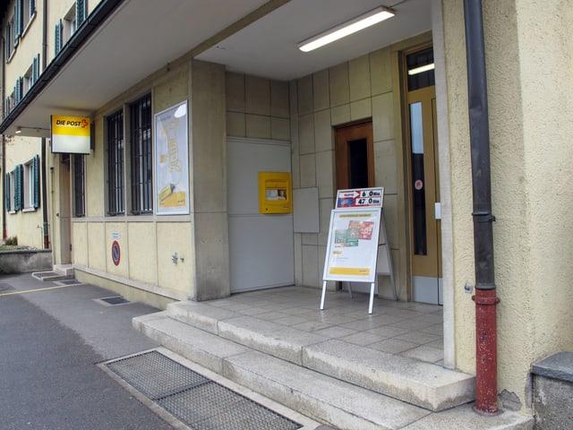 Die Poststelle im Schaffhauser Quartier Breite. Aussenansicht.