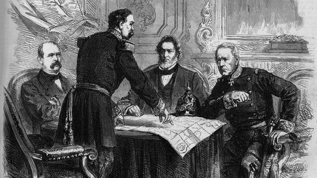 Skizze von Friedensverhandlungen 1871.