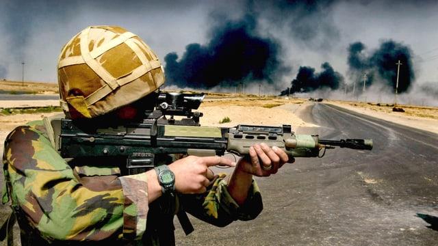 Ein britischer Soldat in Irak.
