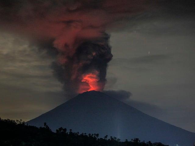 Vulkanausbruch.