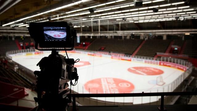 Kamera im Hockey-Stadion