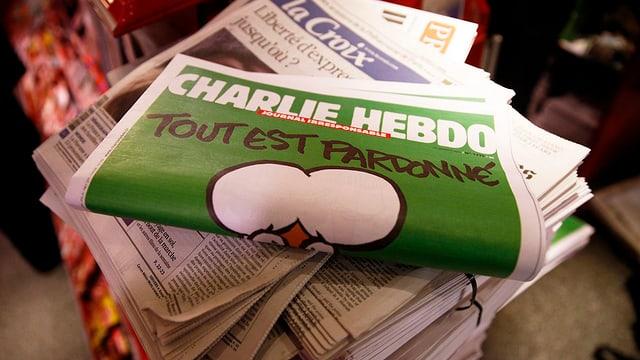 Bild einer «Charlie Hebdo»-Ausgabe nach dem Anschlag