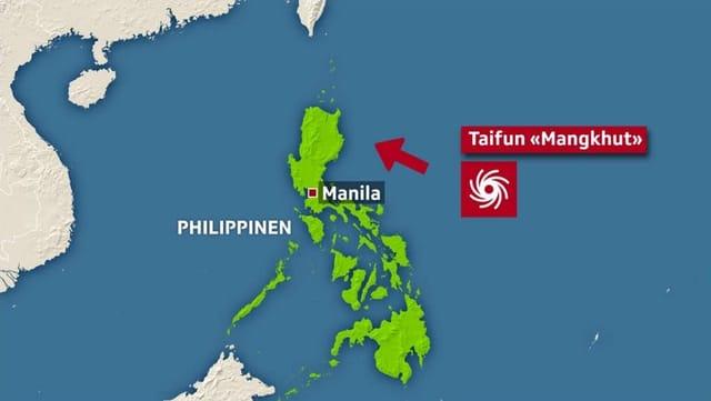 Der Wirbelsturm soll am Samstag im Nordosten der Philippinen auf Land treffen.
