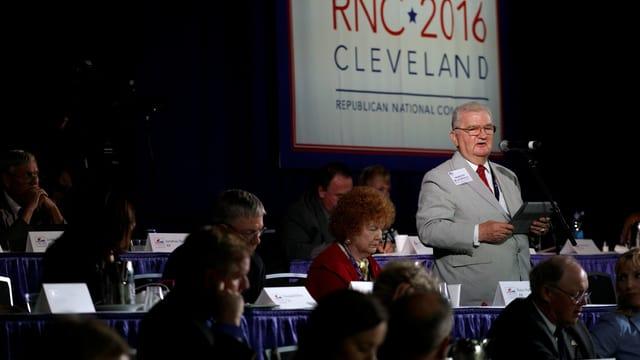 Morton Blackwell 2016 an einem Parteikongress