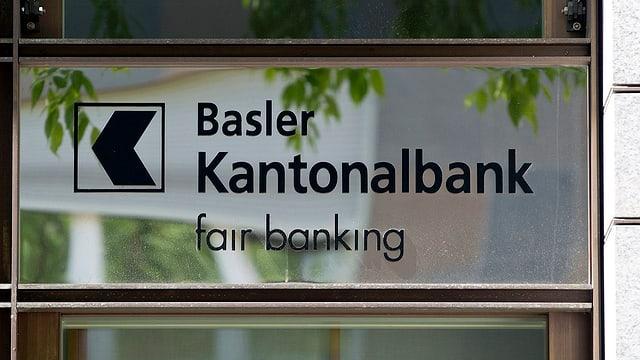 Logo der Basler Kantonalbank, darunter Schriftzug «fair banking»