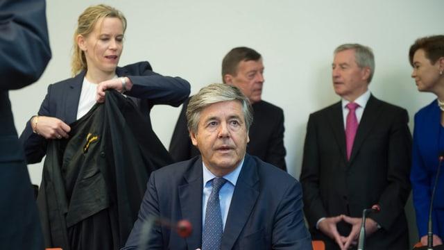 Joe Ackermann im Gerichtssaal des Münchner Landgerichts.