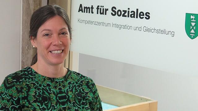 Marlen Rutz, Projektleiterin der St. Galler Aktionswoche gege Rassismus vom Kompetenzzentrum Integration und Gleichstellung.