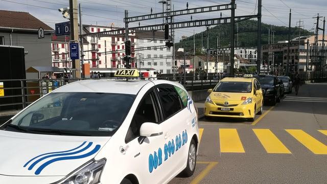 Ein Taxi in Olten