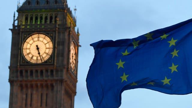 Big Ben London EU-Fahne