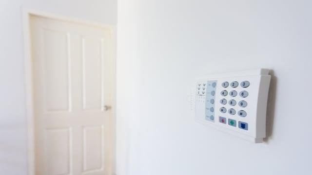 Alarmanlage in einer Wohnung