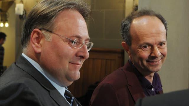 Marco Camin von der FDP (l.) oder Richard Wolff von der AL.