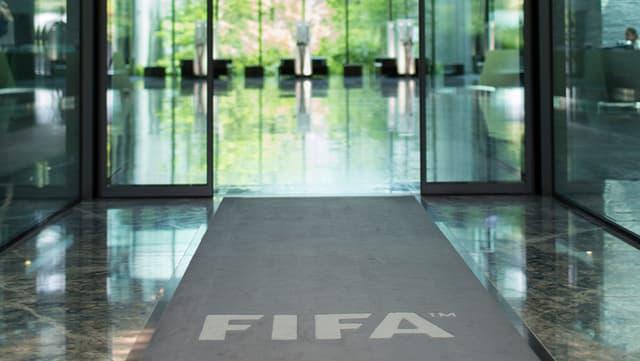 Eingang Fifa-Gebäude.