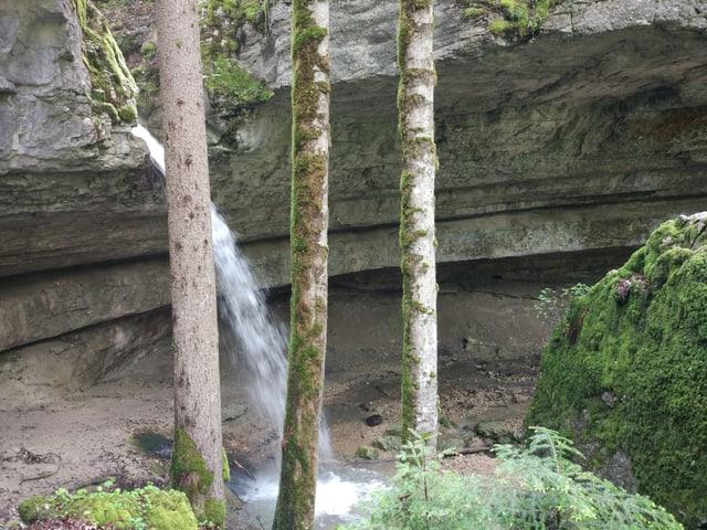 Ein Wasserfall im Jura.