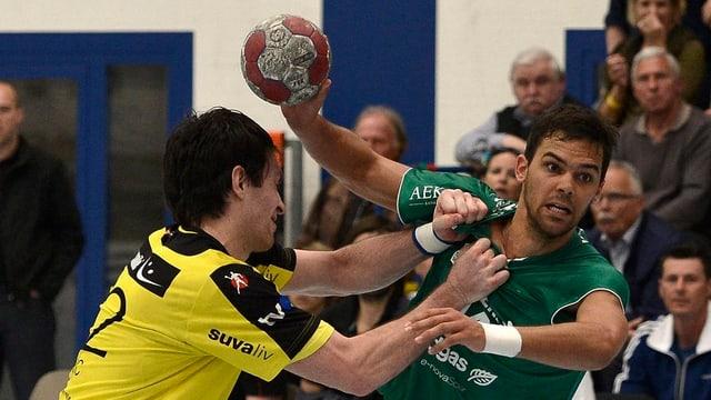 Wacker Thun mit Lukas Deschwanden (r.) stehen erneut im Playoff-Final.