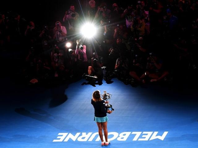 Naomi Osaka nach ihrem Titelgewinn 2019.