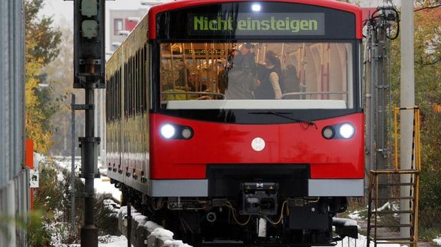 U-Bahn-Zug in Nürnberg.