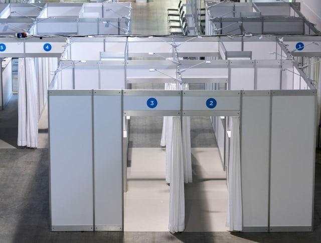 Der Impfbereich im kantonalen Impfzentrum in Zürich-Oerlikon.