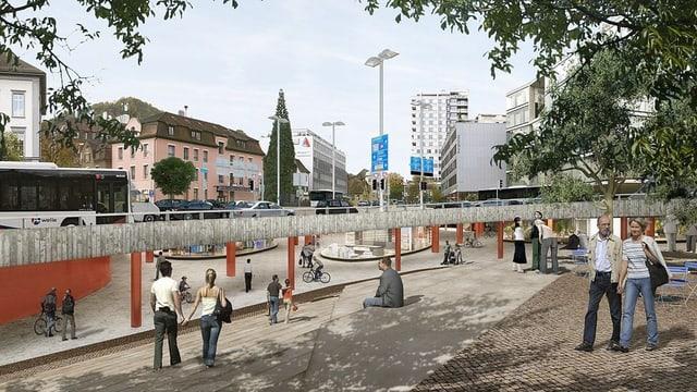 Schulhausplatz Baden.