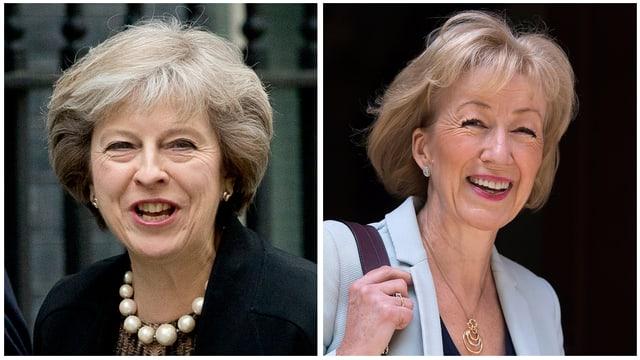 Bilder von Theresa May und Andrea Leadsom