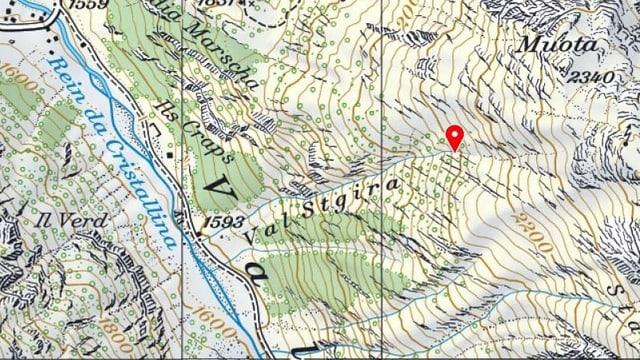 carta geografica da la val Medel