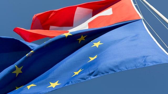 bandieras da la Svizra e da la UE