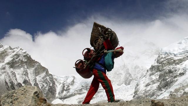 Sherpa im Mount Everest.